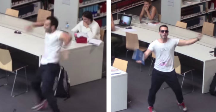 This Guy Has A One Man Rave In A Library   And It Is BRILLIANT thumbbb
