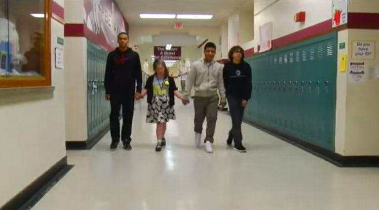Basketball Players Stop Game, Confront Bully Abusing Cheerleader With Downs Syndrome youtube down 3