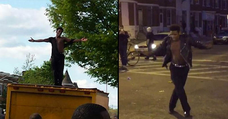 One Guy Danced To Michael Jacksons Beat It During Baltimore Riots 1119