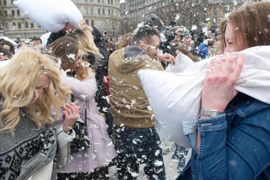 London Went Mental For International Pillow Fight Day 2