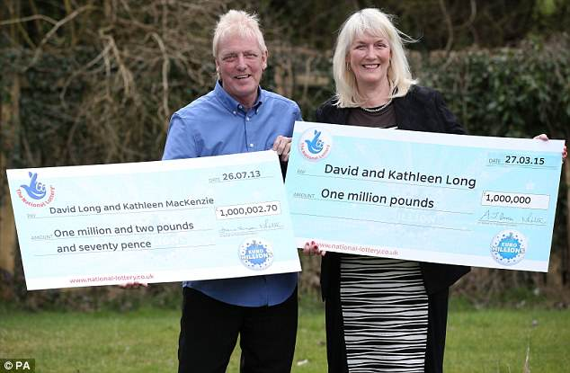 Jammiest Couple In World Win The EuroMillions For SECOND Time 27328C0E00000578 3021308 image m 42 1427893725320