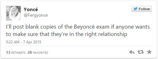 This Girl Made Her Boyfriend Sit A Beyonce Exam To Decide Whether They Should Stay Together 4