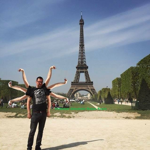 This Guy Posing Next To The Eiffel Tower Is The Latest Internet Craze 55