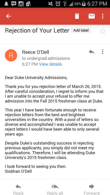 Student Gets Rejection Letter From College, So Rejects The Rejection Letter 551c1caad8dd2