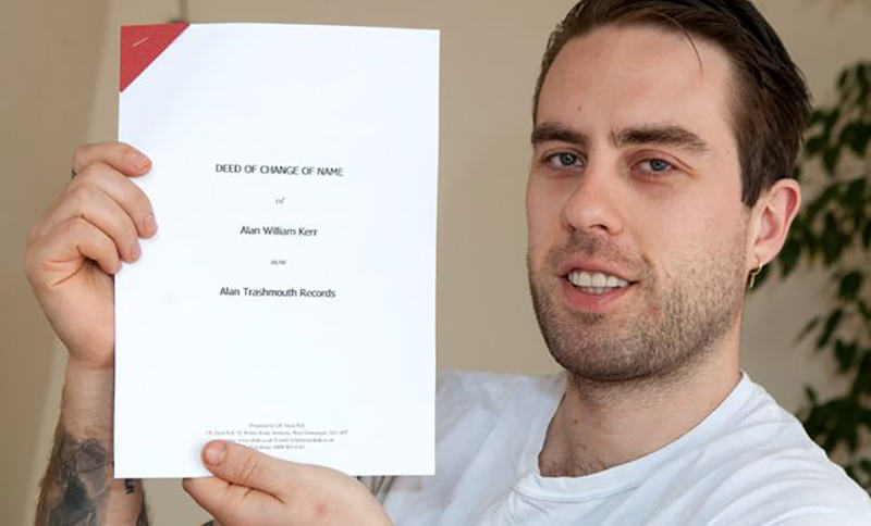 Student Sells His Surname To Record Label For £200 PAY Alan Kerr