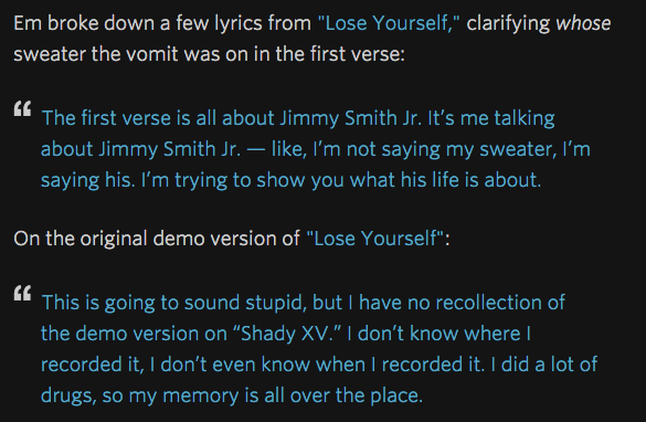 Eminem Annotated A Bunch Of His Songs On Rap Genius Screen Shot 2015 04 03 at 14.38.49