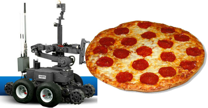 Police Use A Pizza Delivering Robot To Save A Man From Suicide TN118