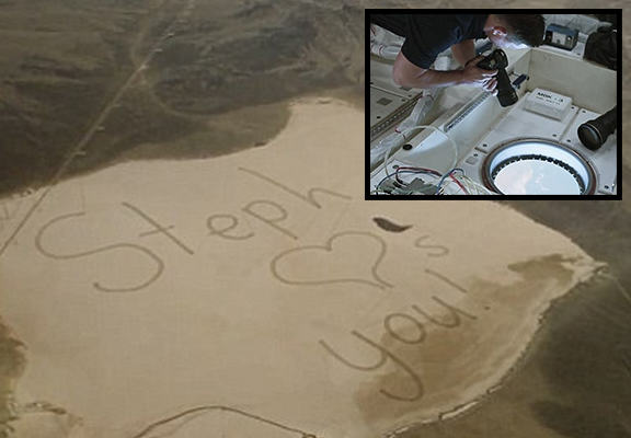 Teen Writes Message To Astronaut Father That Is Seen From Space astronautWEBTHUMBNEW