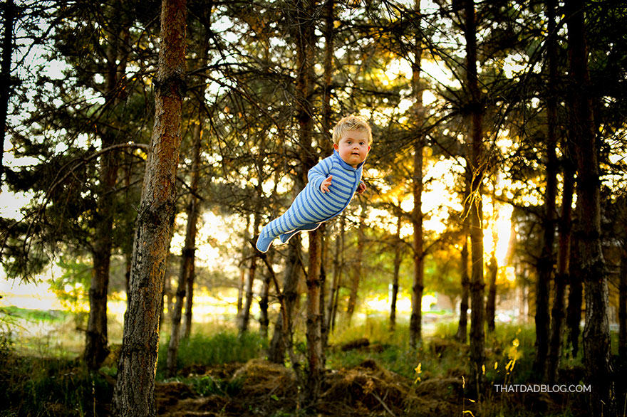 Photographer Dad Makes Son With Down Syndrome Fly In Awesome Photo Set blog3