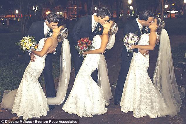 Identical Triplets Get Married At Same Time, Confuse Grooms And Everyone Else bride1