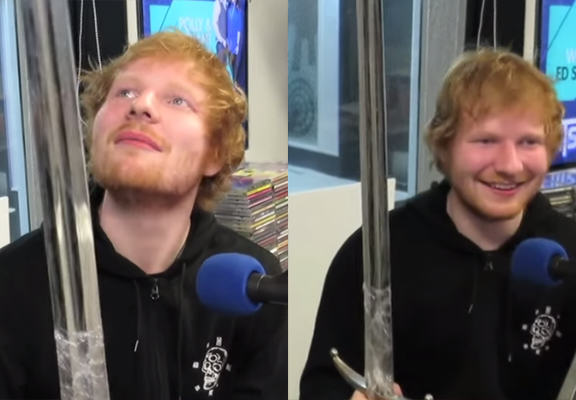 Ed Sheerans Reaction To Being Presented With A Game Of Thrones Sword Is Classic edsheeranWEBTHUMBNEW