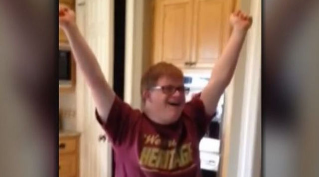 Kid With Down Syndrome Gets His First Job, Reaction Will Make Your Day firstjob