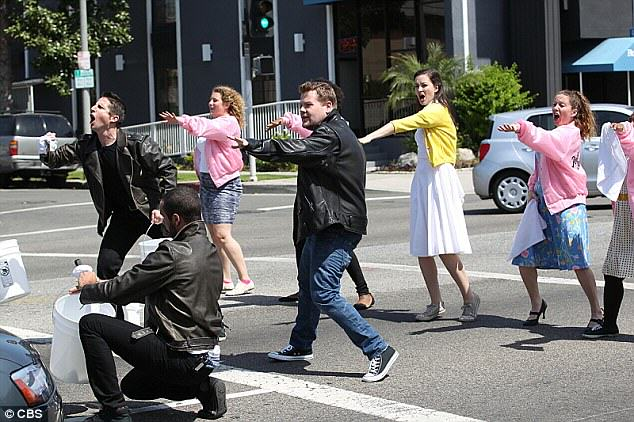 James Corden And Co Perform Grease On Busy Beverley Hills Intersection grease