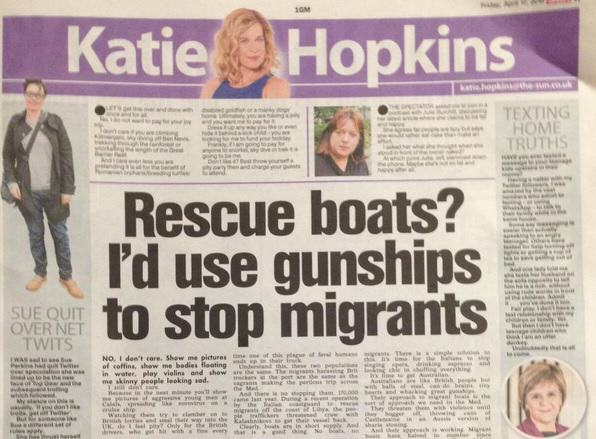 Nobody Wants To Go On Katie Hopkins New Chat Show gunships