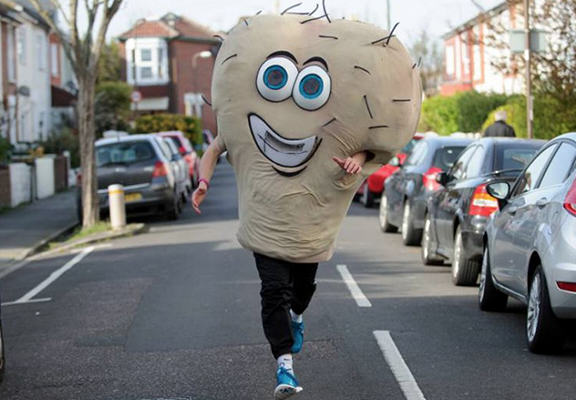 Lad To Run As Giant Pair Of Hairy Testicles In London Marathon hairyWEBTHUMBNEW