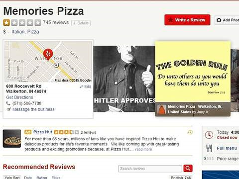 Pizzeria Closes Down After Refusing To Cater For Gay Wedding homo3