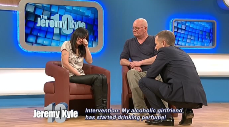 Alcoholic Woman Sent To Rehab By Jeremy Kyle After Resorting To Drinking Perfume kyle2