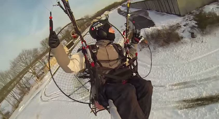 This Video Of A Daredevil On A Paramotor Is Amazing lkjn