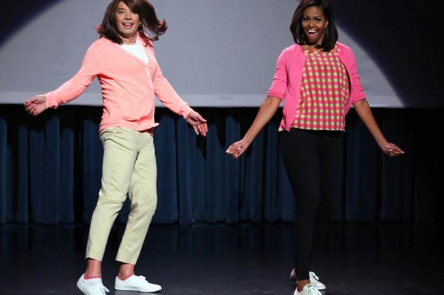 Michelle Obama Joins Jimmy Fallon For Evolution Of Mum Dancing Part 2 obama 640x426