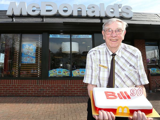 At 90 Years Old This Guy Is McDonalds Oldest Employee old1