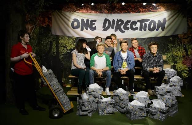 Madame Tussauds Now Has Tissue Attendant For One Direction Sculptures one