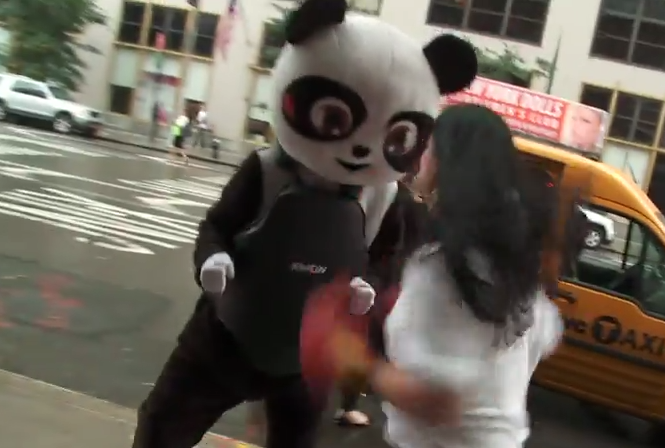 This Guy Dresses As A Panda And Lets People Beat Sh*t Out Of Him panda