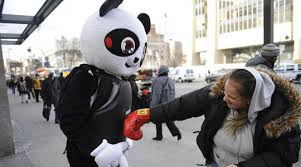 This Guy Dresses As A Panda And Lets People Beat Sh*t Out Of Him panda1