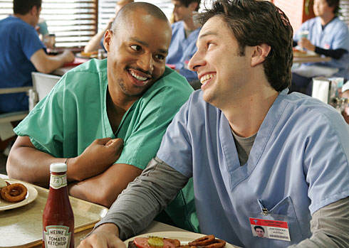Scrubs Stars Zach Braff and Donald Faison Will Bring Any Gay Wedding In Indiana Pizza scrubs