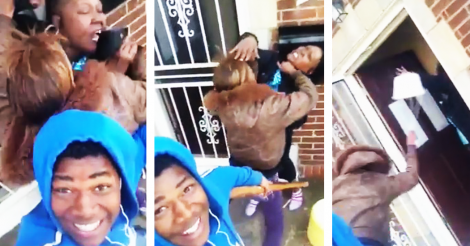 Guy Films Fight Between Mother And Girlfriend With Selfie Stick, Things Get Messy selfie stick
