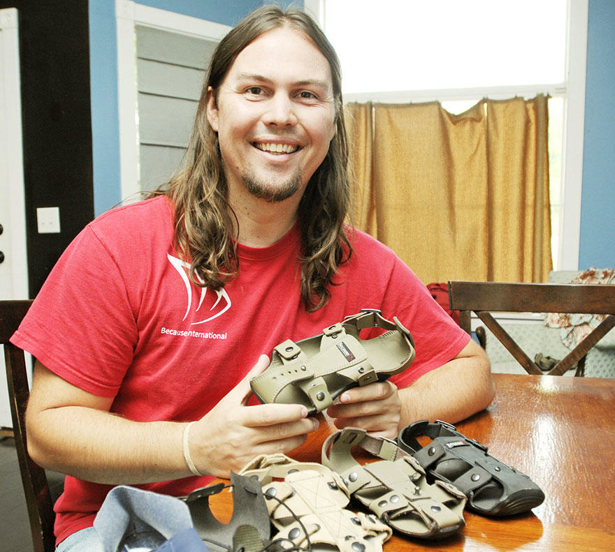 Man Creates Shoes That Grow So Poor Kids Dont Outgrow Them shoes