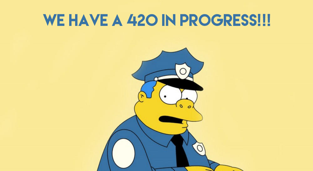 The History Of 4/20 Day And How The Name Caught On simpsons mac wallpaper chief clancy wiggum other copy