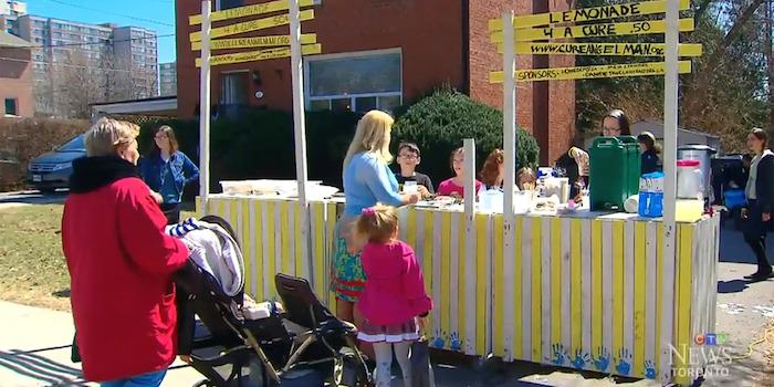 5 Year Olds Lemonade Stand Raises $25K For Brothers Disability stand