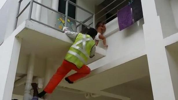 Worker Hailed As Hero After Saving Toddler Stuck Two Stories Up worker