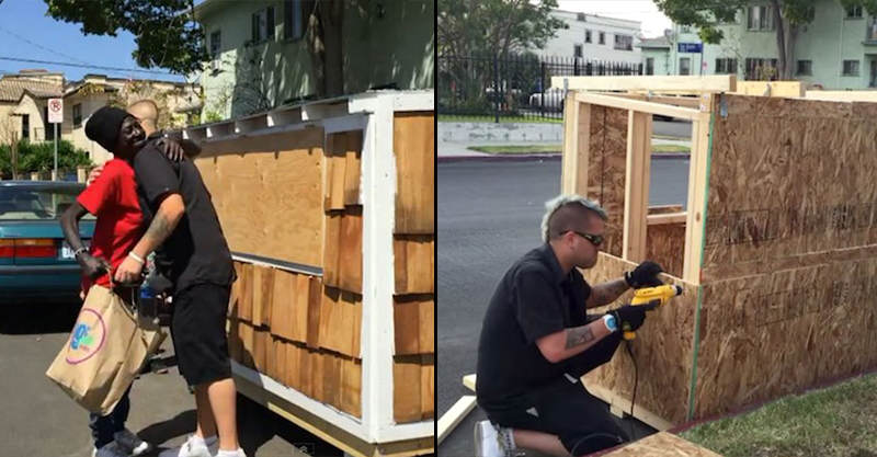 Man Builds Tiny House For 60 Year Old Homeless Woman 11