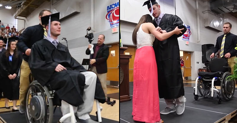 Incredible Moment College Student Defies Odds And Walks At Graduation 1139