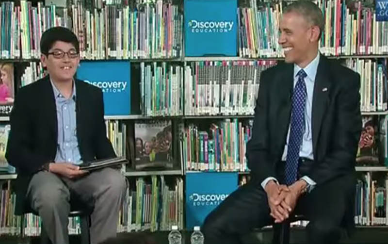 Child Interviewer Cuts Off Barack Obama For Talking Too Much 14