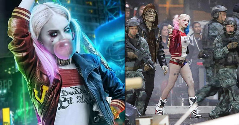 More Photos Of Margot Robbie As Harley Quinn On Set Of Suicide Squad 144