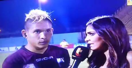 Angry Football Fan Flying Kicks Player During Live TV Interview 184