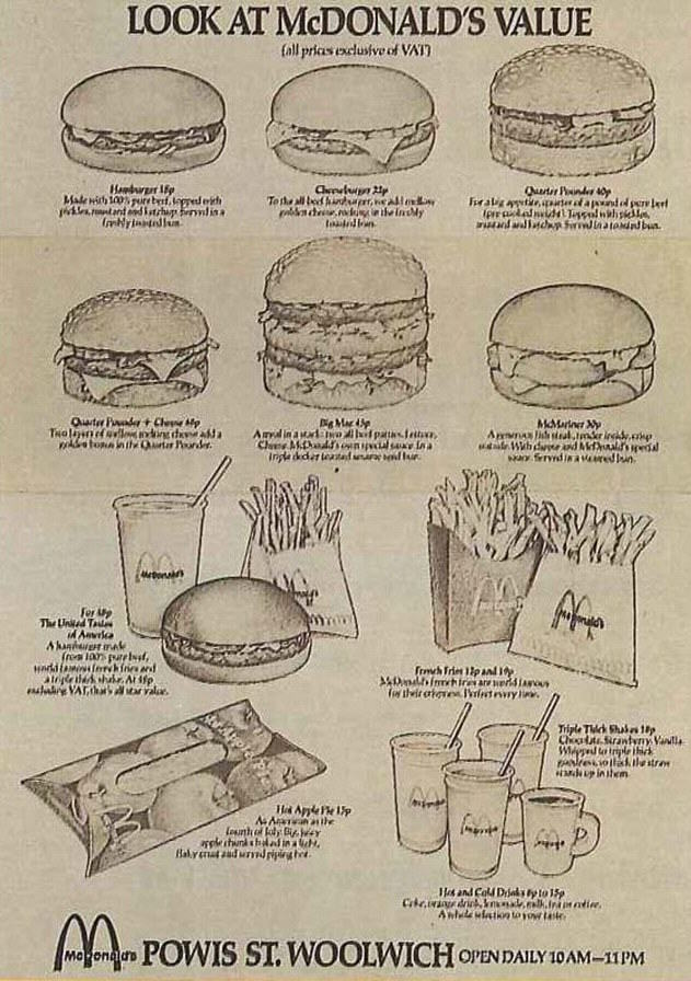 McDonalds Just Celebrated Its 75th Birthday, But Is Struggling 28B4C31A00000578 3083473 The menu from UK s first McDonald s which opened in November 197 a 118 1431706431492