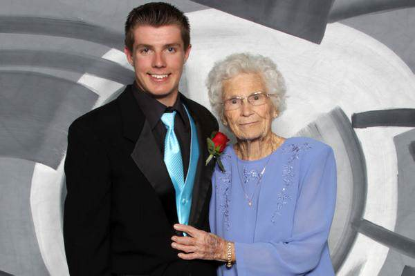 Indiana Teenager Takes His 93 Year Old Great Granny To Prom 93