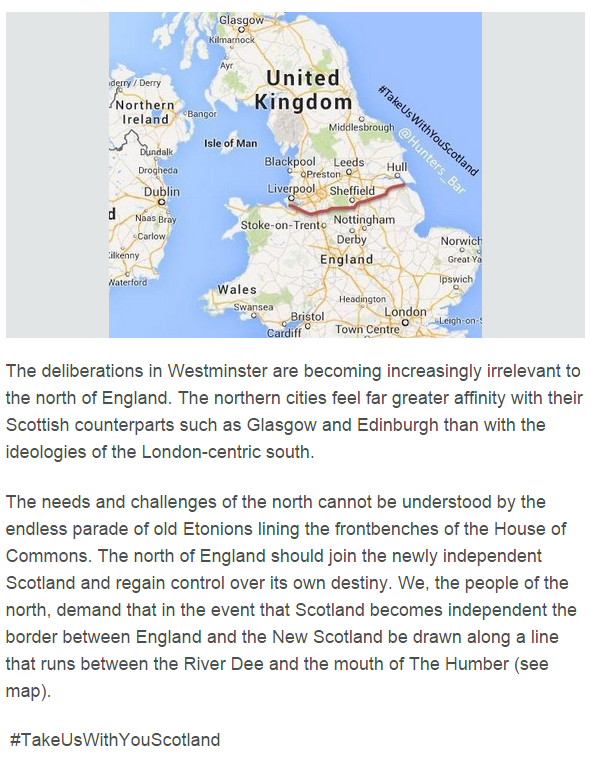 Thousands Of People Want Northern England To Be Part Of Scotland Capture