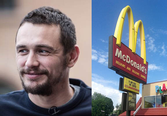 James Franco Worked For McDonalds Before He Was Famous And Loved It Franco McD WEB