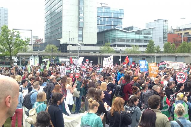 Hundreds Of Protesters Congregate In Manchester City Centre IMG 0373 640x426