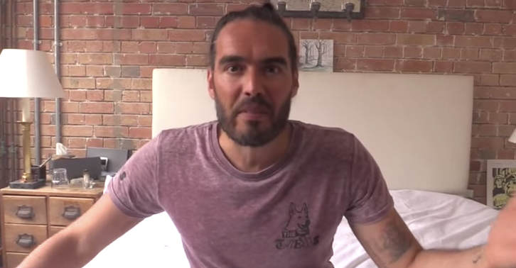 Russell Brand Pussies Out Hours After Defeat   Im Just A Comedian Russell fb