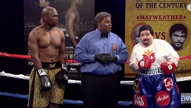 SNLs Version Of Mayweather vs Pacquiao Is Better Than The Real Thing SNL May Pac 640x365