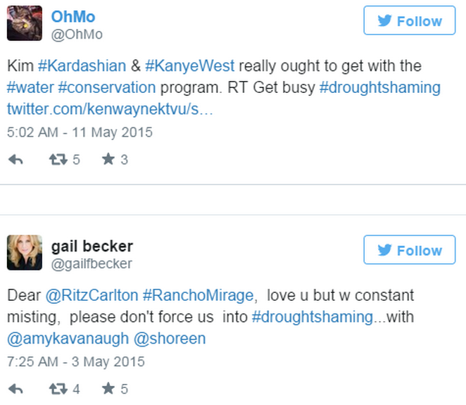 California Residents Resort To #DroughtShaming Celebrities Who Are Wasting Water Screen Shot 2015 05 20 at 13.29.49