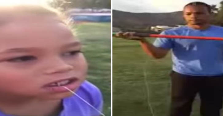 Olympic Gold Medalist Pulls Daughters Tooth Out By Throwing Javelin TN131