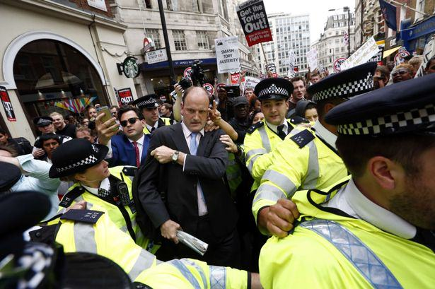 UKIPs Only MP Mobbed By Protesters Ukip MP Douglas Carswell