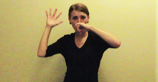 Woman Does Sign Language Version Of Lose Yourself, Crushes It als1