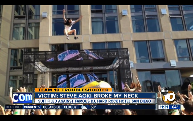 Steve Aoki Being Sued For Breaking Girls Neck During A Crowd Surf aoki 1